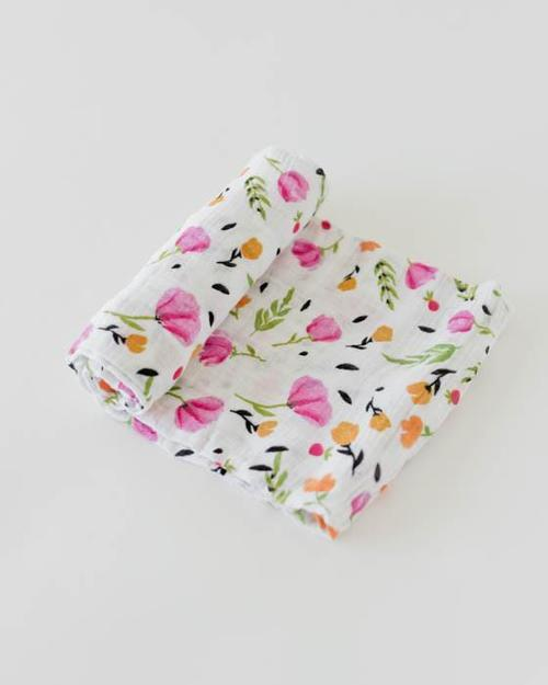 Berry & Bloom Organic Muslin Swaddle Blanket