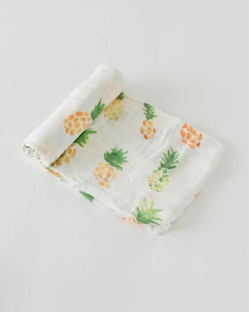 Pineapple Deluxe Muslin Swaddle Blanket