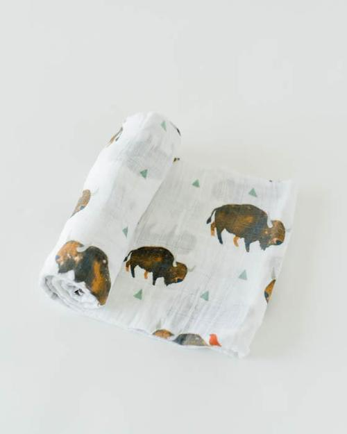 Bison Muslin Swaddle Blanket