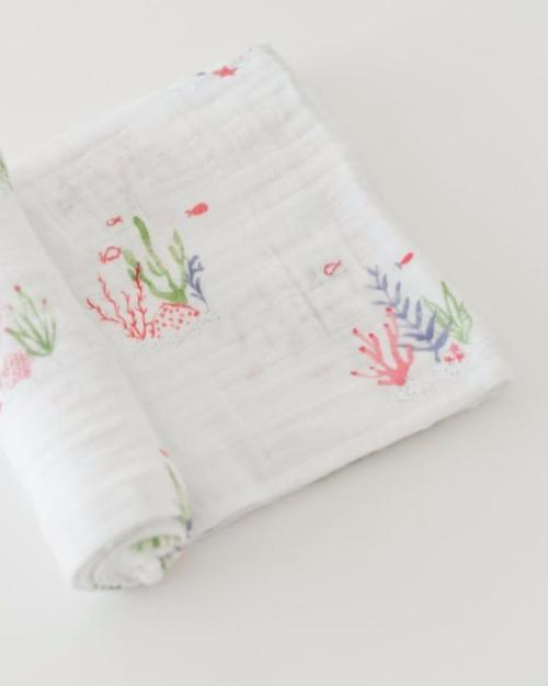 Sea Floor Muslin Swaddle Blanket