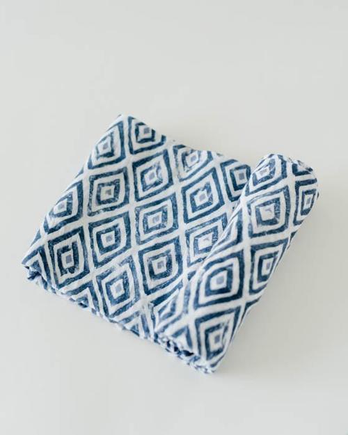Blue Topaz Muslin Swaddle Blanket
