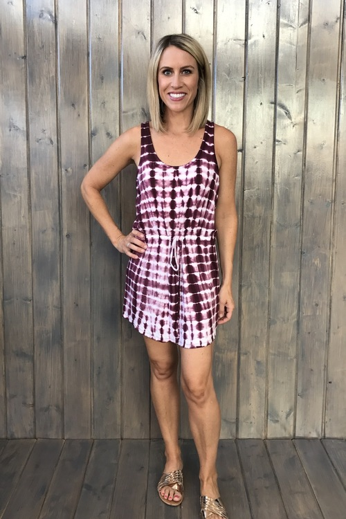 Tie Dye Double Scoop Tank Dress