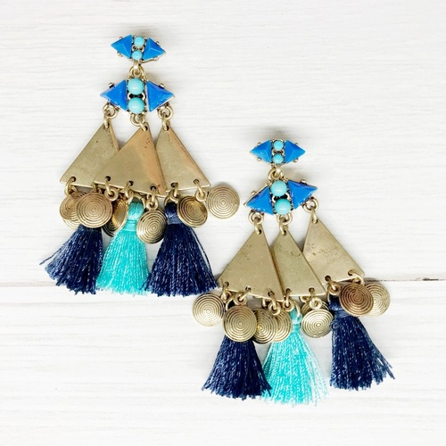 Big Blues Tassel Dangle