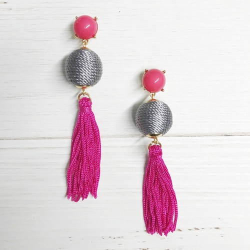 Thread Ball Tassel Drop Dangle