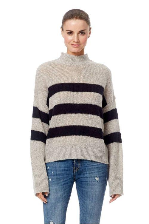 CHRISTEAN - Cashmere Long Sleeve Mock Neck Pullover