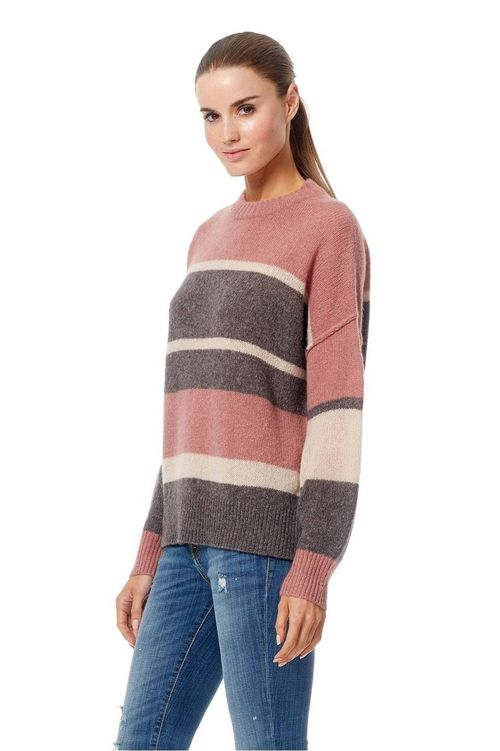 ABBAGAIL - Striped Long Sleeve Cashmere Pullover