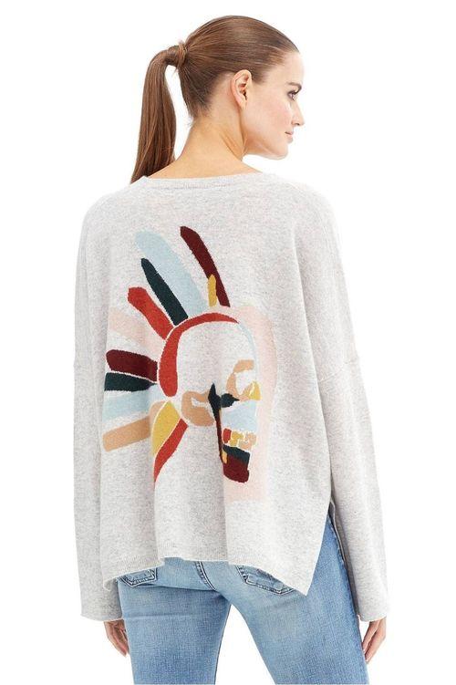 Azure Cuffed Sleeve Cashmere Sweater