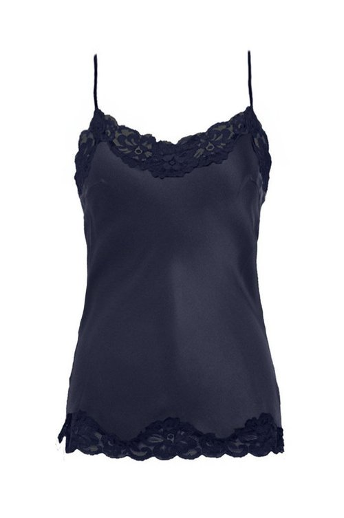 Floral Lace Cami Top, Navy