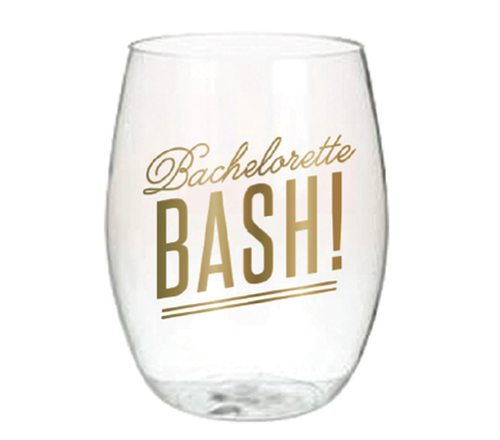 Bachelorette Bash Stemless Wine Glass Set 4