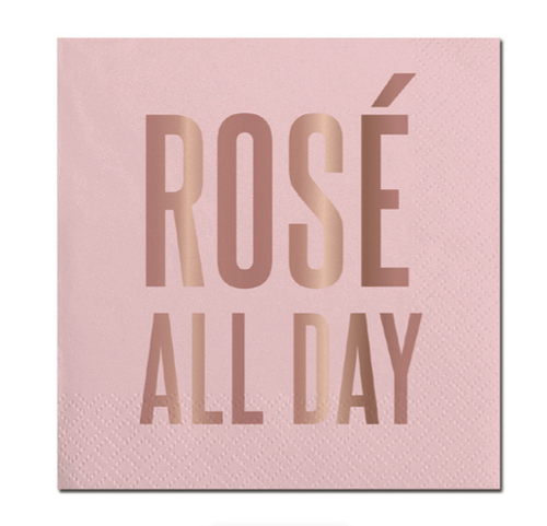 Rose All Day Foil Napkin