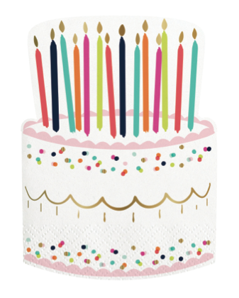 Birthday Cake Cut Out Napkins