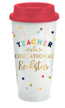 Teacher Rockstar Travel Tumber