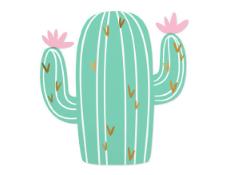 Cactus Die Cut Foil Napkins