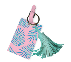 Palm Leaves Tassel Luggage Tag