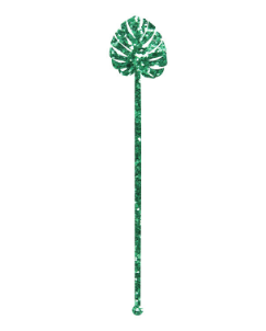 Monstera Leaf Stir Sticks