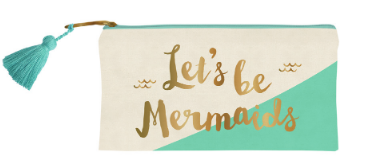 Lets Be Mermaids Pencil Case