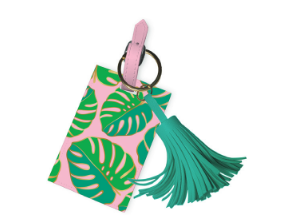 Monsterra Leaves Tassel Luggage Tag