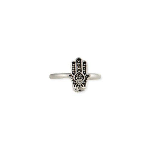 Silver Hamsa Hand Adjustable Toe Ring
