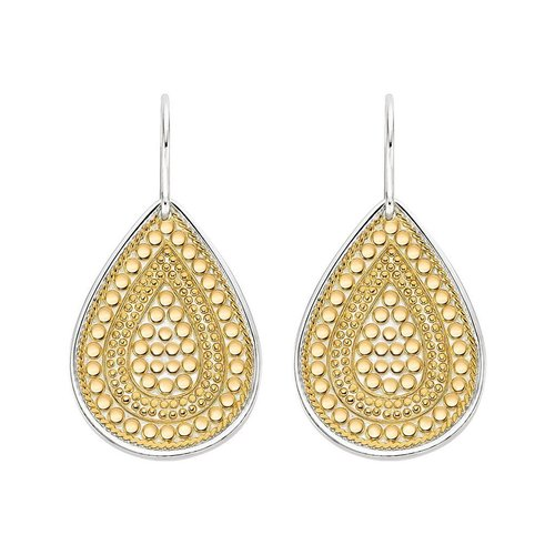 Anna Beck Beaded Teardrop Earring- Gold