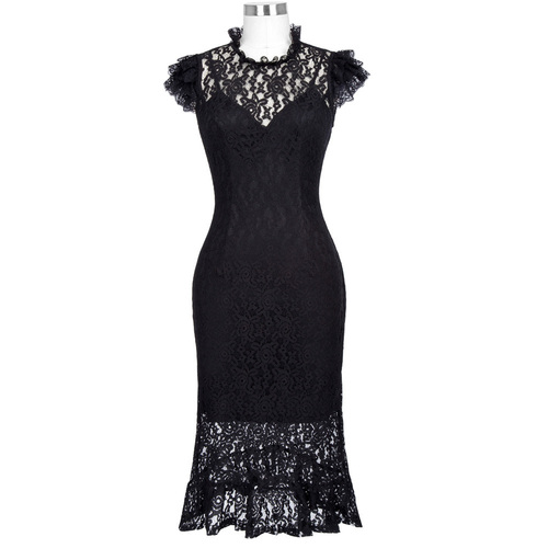 Eliza dress in Black Lace