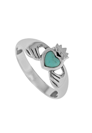 Turquoise Claddaugh Ring