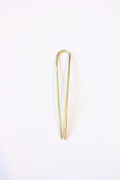 "4"" Brass Classic Bun Pin"