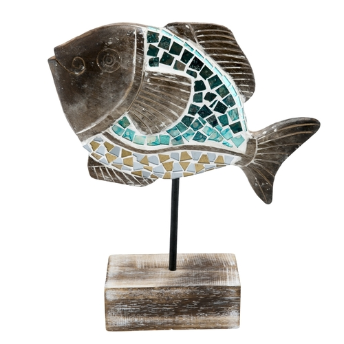 Mosaic Fish on Stand