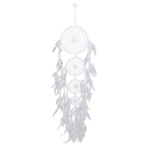 5 Piece White Dreamcatcher