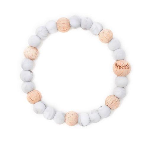 Marble Grey Wood Teething Bracelet