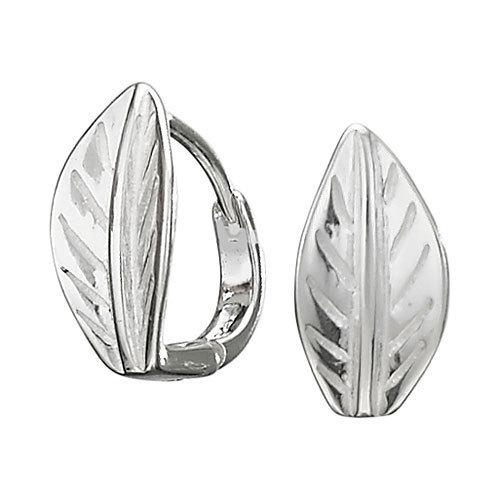Small Leaf Hoop Earrings