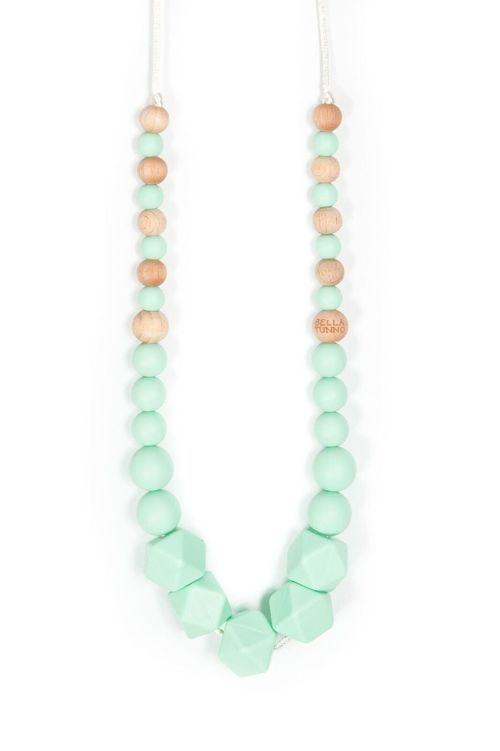 Hexagon Necklace Mint Green
