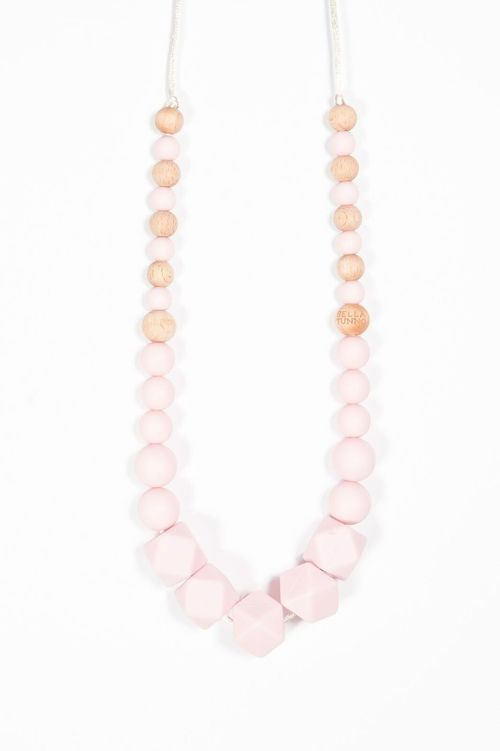 Hexagon Necklace Quartz Pink