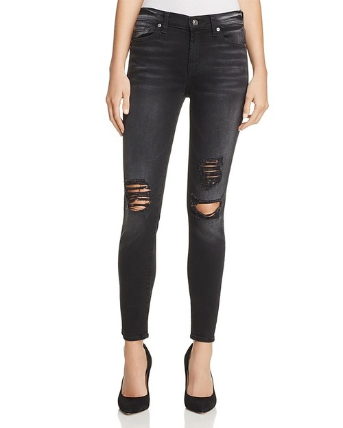 Ankle Skinny Distressed Aged Onyx