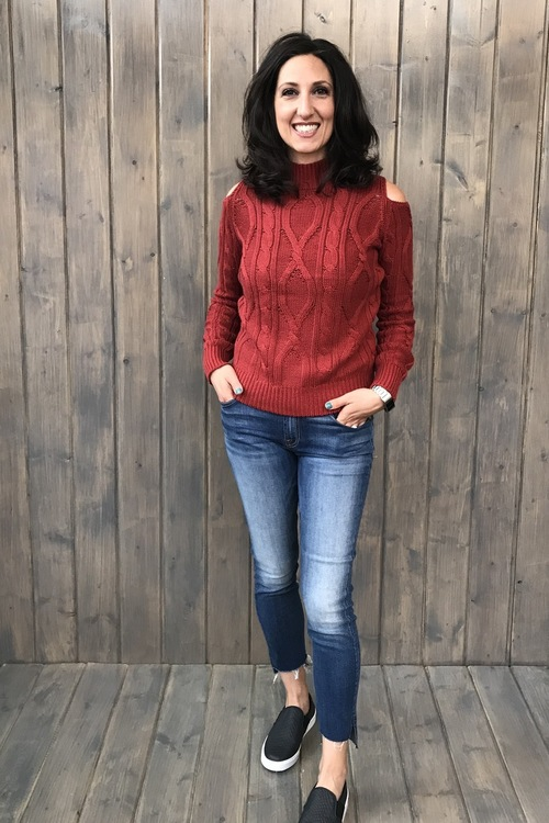 Kianna Open Shoulder Sweater