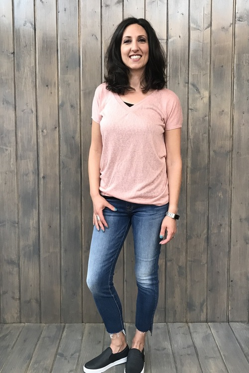 Blush Cross Back Pullover
