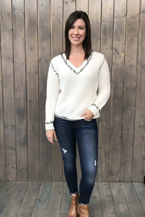 Whisperer Stitch Neck Sweater
