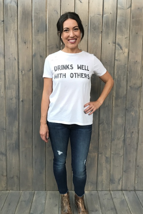 Drinks Well Distressed Tee