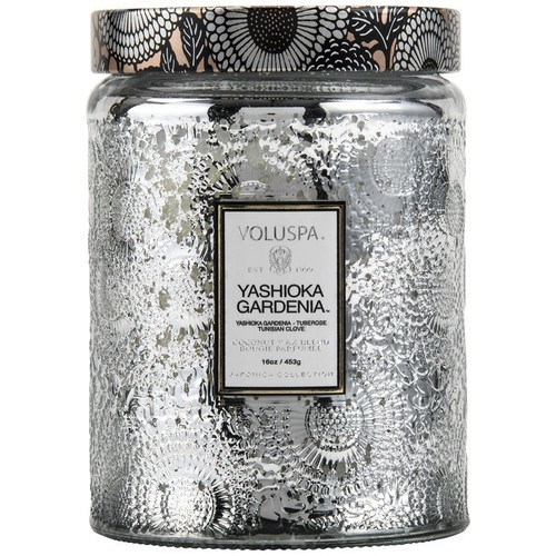 Yashioka Gardenia Large Embossed Glass Jar