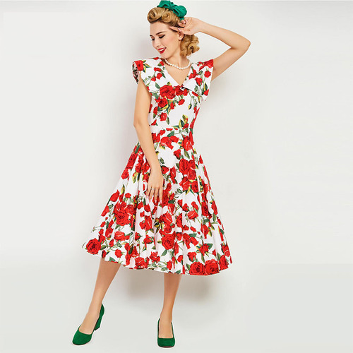 Rose Garden Swing Dress