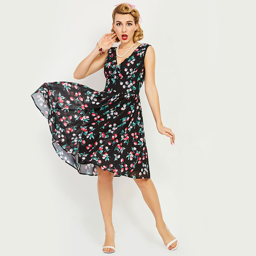 Sweet Darling Cherry Swing Dress
