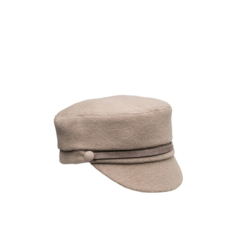 Elyse Cashmere Cap with Mink Hair Calf Band