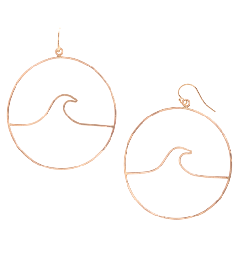Peahi Wave Hoop- Gold