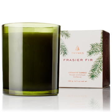 Frasier Fir Green Molded Green Glass Candle 6.5oz
