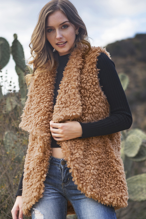 Fluffy Faux Fur Vest