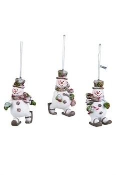 Snowshoe Snowman Ornament