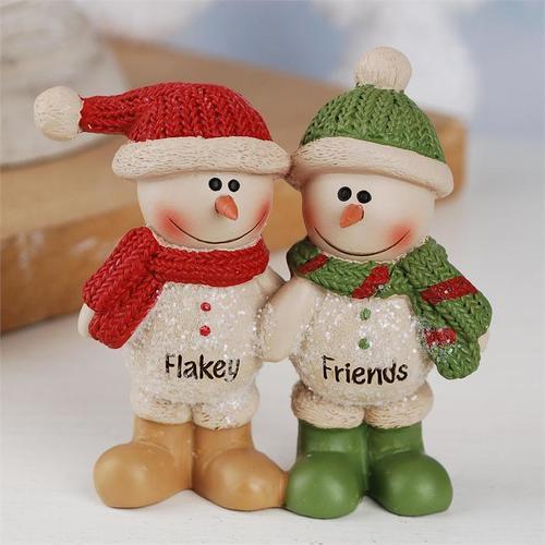 Flakey Friends Snowmen Figurine