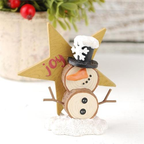 Joy Star With Snowman Figurine