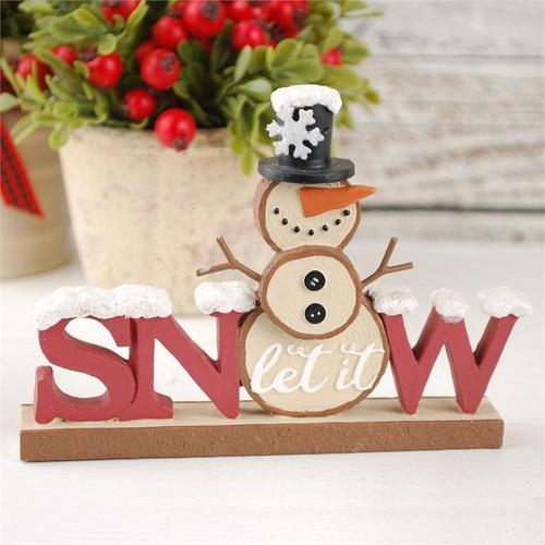 Snow Sign with Snowman
