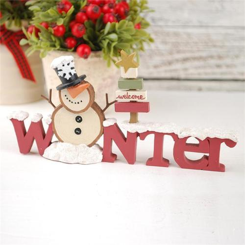 Winter Sign with Snowman