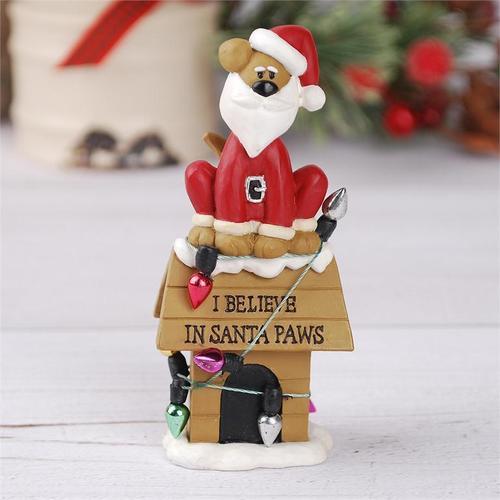 Santa Paws Doghouse Figurine